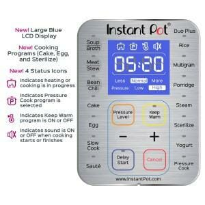 Instant Pot IP-DUO Plus Display