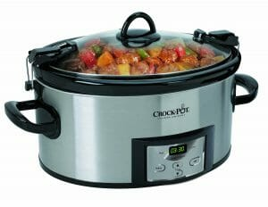 Crock-Pot SCCPVL610-S Programmable Cook and Carry Oval Slow Cooker, 6-Quart